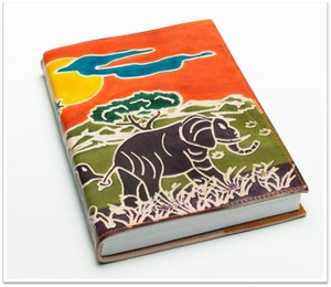 Elephant In Jungle Leder Notizbuch - Kalakosh