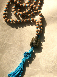 Mala mit Labradorit-Ganesha - BAGHI