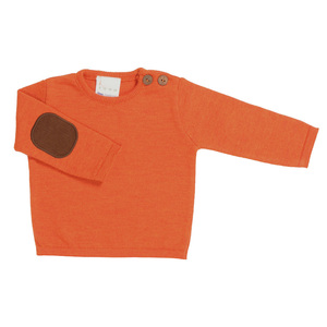 l´asticot Merino Wolle Pullover orange - lasticot