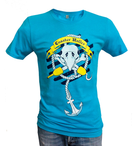 'Paul Piratenpapagei', T-Shirt aus Biobaumwolle - Coaster Roller