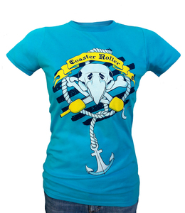 Girlie 'Paul Piratenpapagei', T-Shirt aus Biobaumwolle - Coaster Roller