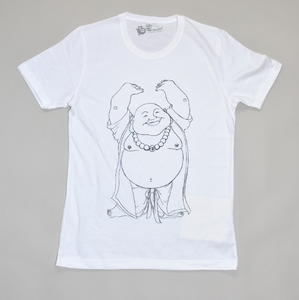 T-Shirt HAPPY BUDDHA weiss - MR. NELSON ecowear