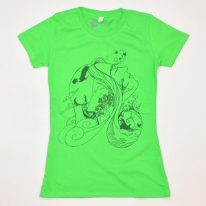 Women T-Shirt MOTHER NATURE gruen - MR. NELSON ecowear