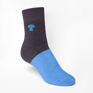 Fifty-Fifty Mid-Top Plsch Socken boyblue/dark grey - THOKKTHOKK