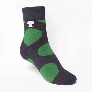 Polka Mid-Top Plüsch Socken green/dark grey - THOKKTHOKK