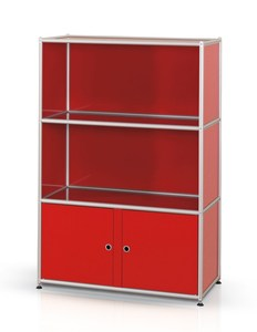 alu.tec Highboard -1-, rot - AMS Mbelmanufaktur