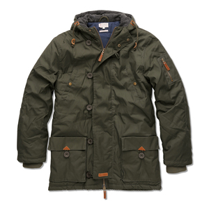 Waxed Canvas Jacket Night Green - KnowledgeCotton Apparel