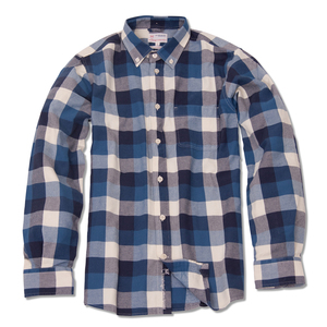 Poplin Checked Biobaumwoll Hemd - KnowledgeCotton Apparel