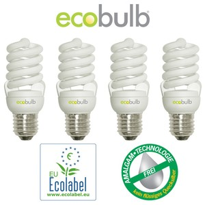 Energiesparlampe E27 15W 4er Pack - ecobulb