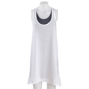 Langes Tanktop 'Sri Lanke' in Wei - Propheten Sharety Fashion