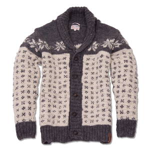 Star Pattern Cardigan - KnowledgeCotton Apparel