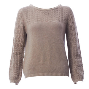 Pullover 'Trellis' mit Ajourmuster-Details - bibico