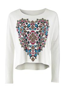 Inca Heart Long Sleeve Top - PeopleTree