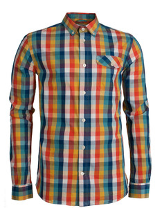 Poplin Checked Shirt - KnowledgeCotton Apparel