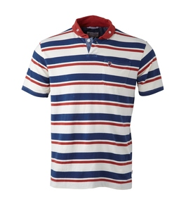 Striped Biobaumwoll Poloshirt - KnowledgeCotton Apparel