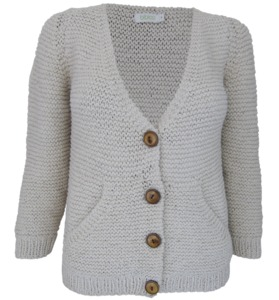 Strickjacke mit Seitentaschen - bibico