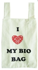 Shopper 'I heart my bio bag' - Coq en Pate
