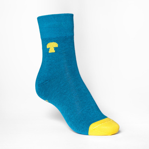 Summit Mid-Top Socken yellow/aqua - THOKKTHOKK
