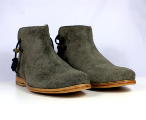 Rosewood Schuhe Grey Suede Leather Sole - ekn footwear