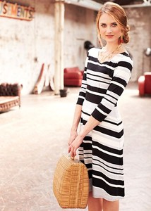 Maggie Stripe Dress - PeopleTree