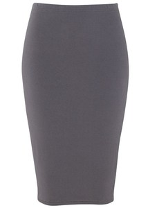Francine Pencil Skirt Grey - PeopleTree