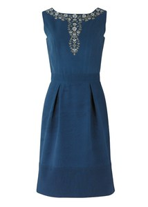 Rita Embroidered Dress  - PeopleTree
