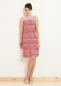 Sylvia Block Printed Dress - PeopleTree