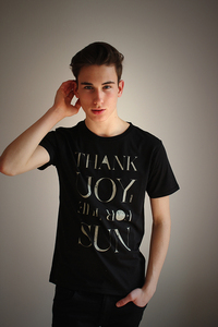 Herren Rundhals Shirt 'SUN' - Re-Bello