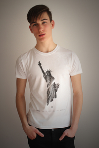 Herren Shirt Rundhals, Bamboo, 'New York' - Re-Bello
