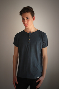 Herren SERAFINO, Shirt mit Knopfleiste,  - Re-Bello