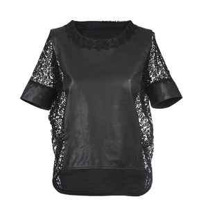LACE LEATHER SHIRT - deepmello