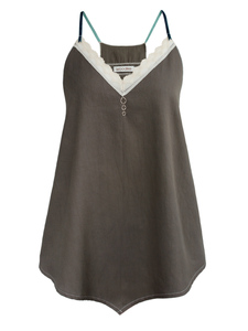 SUMMER ROMANCE Tank Top - anthrazit  - woodlike