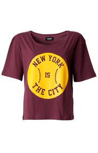 'New York Cropped T-Shirt' organic cotton - A QUESTION OF